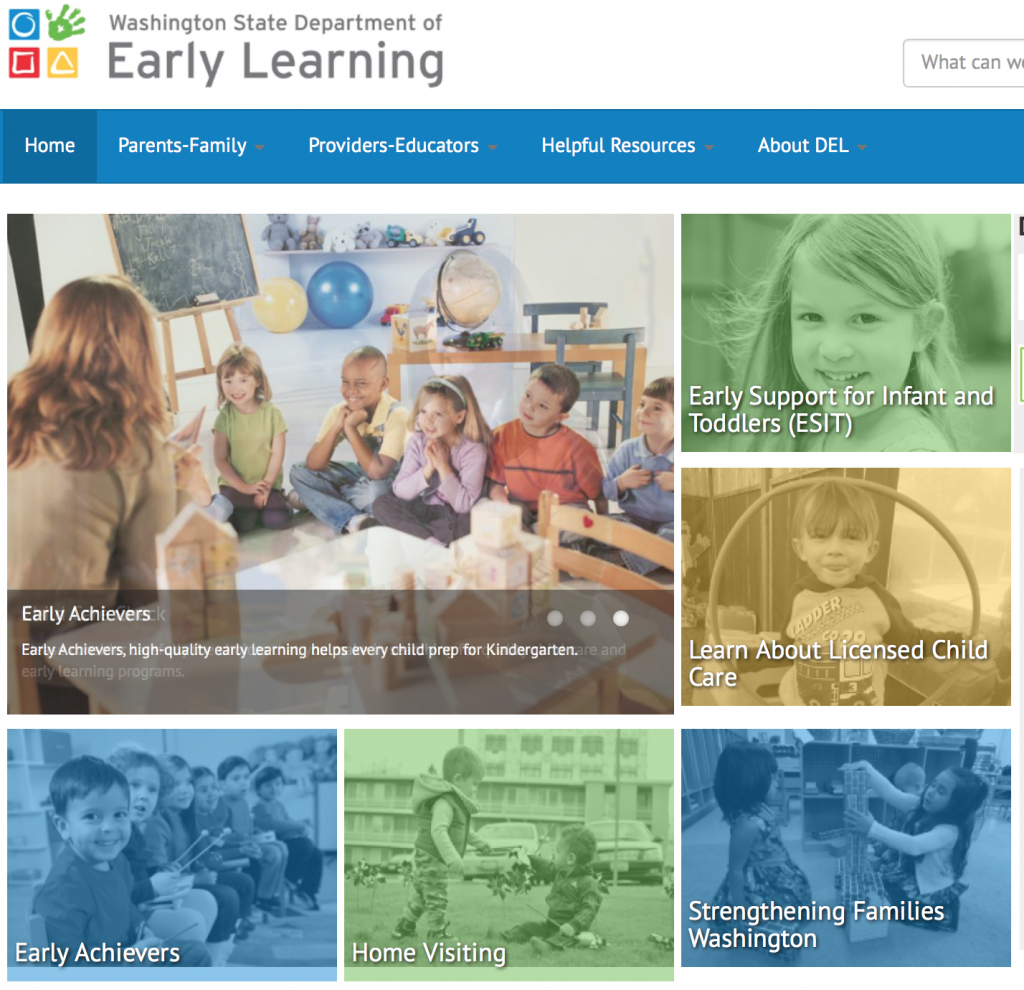 Department of Early Learning Washington State