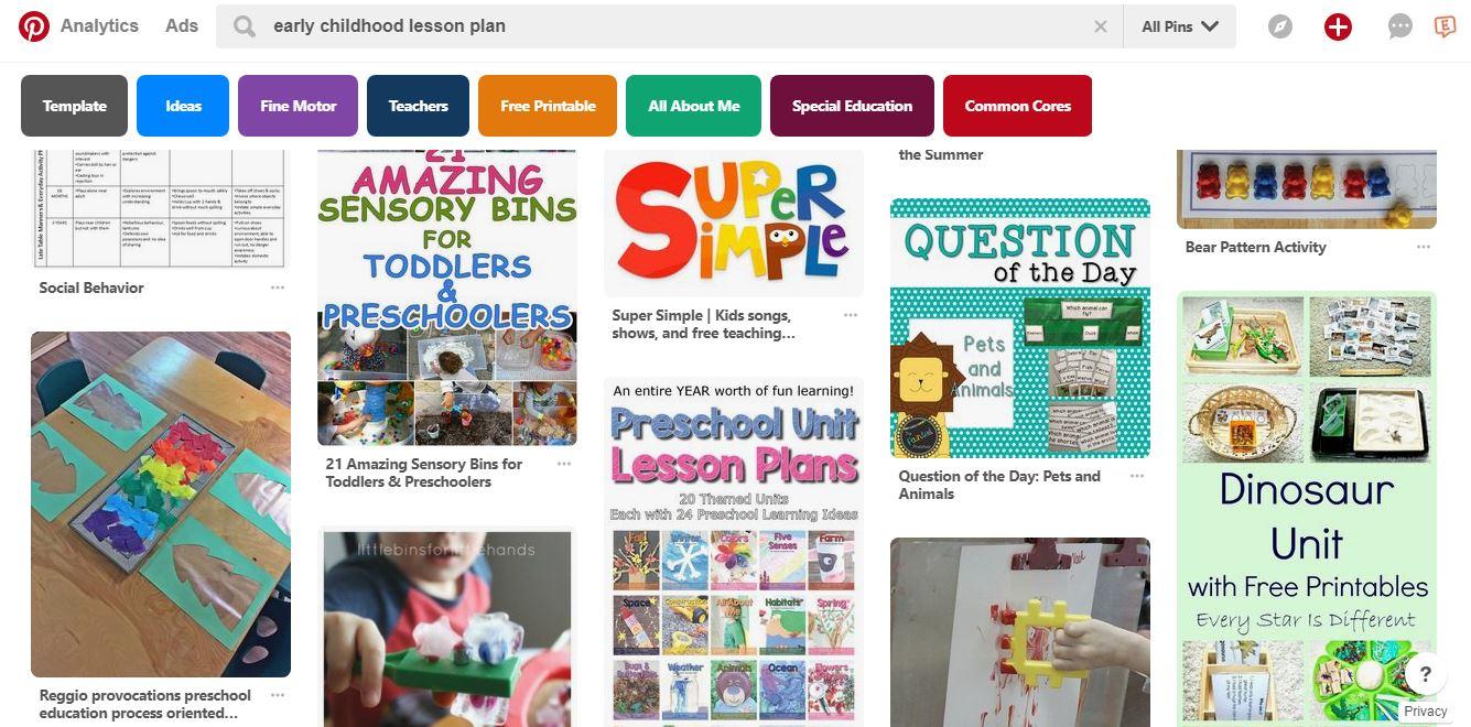 Pinterest Preschool Lesson Plans