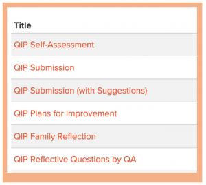 QIP process in Educa